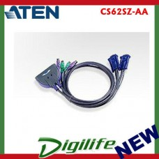 Aten Petite 2 Port PS2 KVM 3 Feet Cables built in CS62SZ-AA