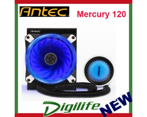 Antec Mercury 120 All In One Liquid CPU Cooler 120mm Fan 2011/AM4