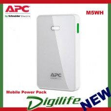 APC Mobile Power Pack, 5000mAh Li-polymer, White - M5WH