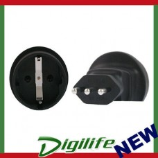 InLine Schuko to Italy 3 Pin Plug Adapter PA-4523