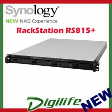 Synology RS815RP+ RackStation 4-Bay Scalable NAS (RAIL KIT optional)