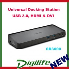 KENSINGTON SD3600 Universal USB 3.0, HDMI & DVI Docking Station, Windows devices