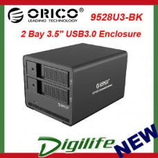 ORICO 9528U3 Aluminum 2 Bay 3.5 SATA to USB3.0 External Hard Drive Enclosure