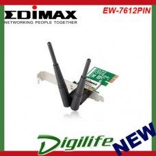 Edimax 300Mbps Wireless 802.11b/g/n PCI Express Adapter EW-7612PIN