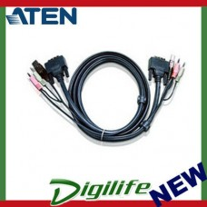 Aten 1.8m Dual Link DVI KVM Cable with Audio to suit CS178xA, CS164x 2L-7D02UD