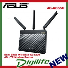ASUS 4G-AC55U Wireless AC1200 4G LTE Gigabit Modem Router NBN Ready