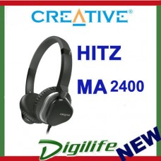 Creative Hitz MA2400 Premium Lightweight Headset Gaming Music Headsets BLACK