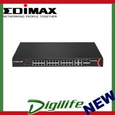 Edimax Pro GS-5424PLC 24-Port Gigabit PoE+ WebSmart Switch With 4 Giga SFP Slots