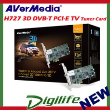 Avermedia AVer3D CaptureHD Watch & Record HDTV 3DTV Tuner Card H727 3D PCIE