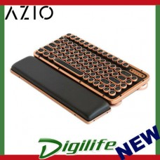 AZIO Artisan Retro Compact Keyboard Black Leather / Copper-Brushed Frame