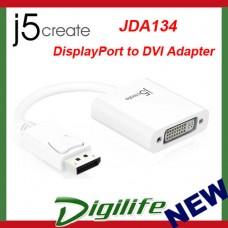 j5create JDA134 DisplayPort DP to DVI Adapter up to HD 1080P 9cm