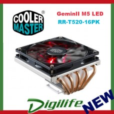 Cooler Master GeminII M5 LED Low-Profile CPU Air Cooler RR-T520-16PK