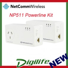 Netcomm NP511 500Mbps Powerline Kit w/ AC Pass-through slim housing