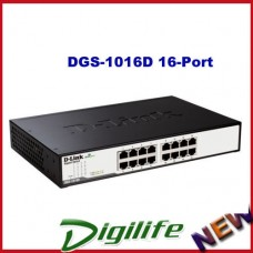 D-Link DGS-1016D 16-Port Unmanaged Gigabit Desktop Switch (Metal Housing)