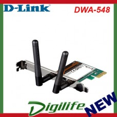D-LINK Wireless N300 LAN PCI Express Adapter, low profile bracket DWA-548