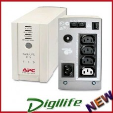 APC Back-UPS BK650AS CS 650VA 400W/USB I/Face/2Yr Wty