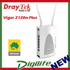 DrayTek Vigor 2120n-Plus 802.11n Gigabit Router w/4 x Gigabit LAN WiFi