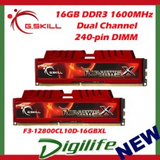 G.Skill 16GB DDR3-1600 Dual Channel [RipjawsX] F3-12800CL10D-16GBXL
