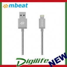 "mbeat® ""Toughlink"" Sliver 1.2m Metal Braided MFI Lightning Cable MB-ICA-SLV"