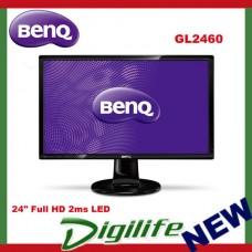 "BenQ GL2460 24"" Full HD 2ms Flicker Free LED Monitor VGA DVI"