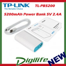 TP-Link TL-PB5200 Portable USB Power Bank 5200mAh mobile battery charger