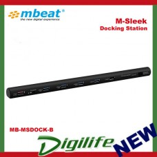 mbeat M-Sleek Docking Station For Notebook & Macbook in Black Aluminium Housing