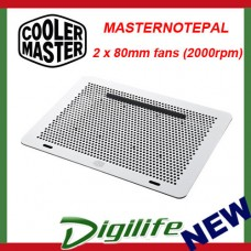 "Cooler Master MasterNotepal Aluminium Laptop Cooler Up to 17"" MNX-SMTS-20FN-R1"
