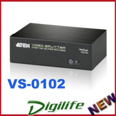 Aten VS-0102 2 Port VGA Splitter w/ Audio up to 1920x1440 450MHz Video Bandwidth