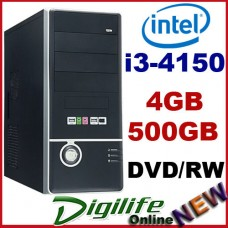 Intel Core i3-4160 3.5GHz DESKTOP COMPUTER 4GB RAM 500GB HDD Home & Business PC