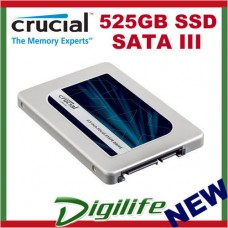 "Crucial MX300 525GB SATAIII 2.5"" Internal SSD 530MB/s,510MB/s Write 7mm"