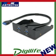 "Astrotek USB 3.0 2 Ports 5.25"" Front Panel 80cm Cable Black Colour LS"