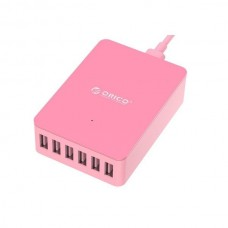 Orico Pink DHE-6U 6 Port Desktop Charger