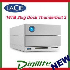 LaCie 16TB 2big Dock Thunderbolt3 & USB 3.0 External Desktop Hard Drive