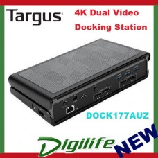 Targus USB 3.0 Dual Video 4K Docking Station with Power DOCK177AUZ