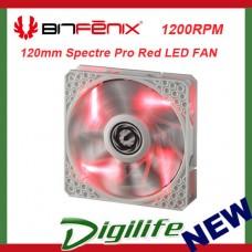 Bitfenix 120mm Spectre Pro White Frame Red LED 1200RPM Fan