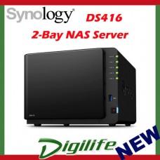 "Synology DiskStation DS416 NAS 3.5"" Diskless 2 x GbE 1GB 3 x USB3 Storage"