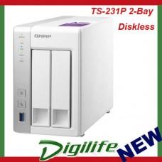 QNAP TS-231P 2-Bay Diskless NAS Alpine AL-212 DualCore CPU 1GB RAM