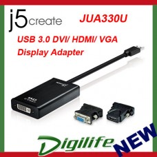 j5create USB 3.0 DVI/HDMI/VGA  DISPLAY ADAPTER (Windows/Mac) JUA330U