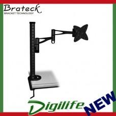 Brateck Single Monitor Arm & Desk Clamp Black VESA 75/100mm Up to 27''