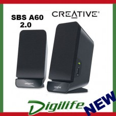 Creative SBS A60 2.0 Sound Speaker System built-in bass port SBSA60