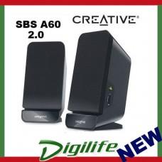 Creative SBS A60 2.0 Sound Speaker System built-in bass port SBSA60