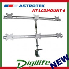 "Astrotek 6 Monitor Arm / Stand fit 13""-23"" LCD screens, VESA compliant, 8kg each"