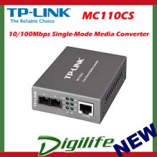 TP-LINK 10/100Mbps RJ45 to 100Mbps single-mode SC fiber Converter MC110CS