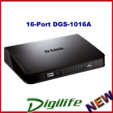 D-Link DGS-1016A 16-Port Gigabit Desktop Switch 3Yrs Warranty