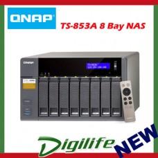 QNAP TS-853A-4G, NAS, 8BAY (NO DISK), 4GB, CEL QC-1.6GHz,USB, GbE(4), TWR, 2YR