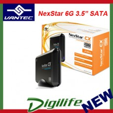 "VANTEC NEXSTAR CX 3.5"" HDD Enclosure SATA 6G to USB 3.0 NST-316S3-BK"