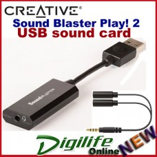 Creative Sound Blaster Play! 2 USB Sound Card a true-to-life 3D audio soundstage