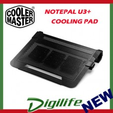Cooler Master Notepal U3 Plus Black Laptop Cooling Pad Cooler coolermaster