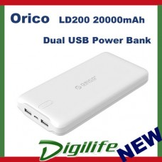 Orico White LD200 20000mAh Dual USB Power Bank