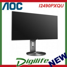 "AOC 23.8"" FHD IPS LED Monitor 1920x1080 5ms VGA HDMI DP Speaker I2490PXQU"